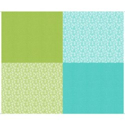 Lexi Fat Quarter Panel Aqua Gr