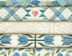 Note Cards Stacked Blue Quilts