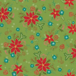 Snowed In Floral Green