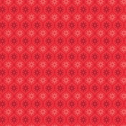 Snowed In Medallion Red