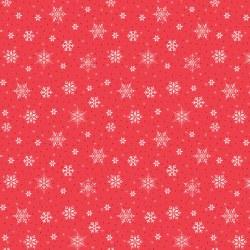 Snowed In Snowflakes Red