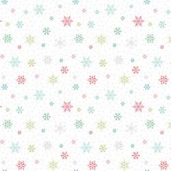 Snowed In Snowflakes White