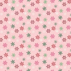 Merry and Bright Snowflakes Pink