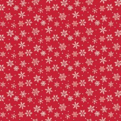 Merry and Bright Snowflakes Red