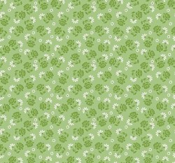 Granny Chic Roses Green