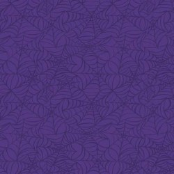 Hocus Pocus Spiderwebs Purple