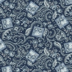 Tranquility Paisley Navy