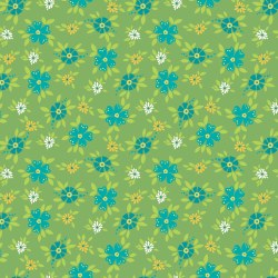 Shades of Summer Floral Green