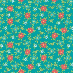 Shades of Summer Floral Teal