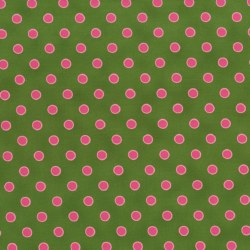Lily's Garden Large Dots Green