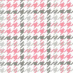 Cozy Cotton Pink Houndstooth