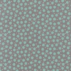 Cozy Cotton Flower Mint Grey