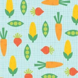 Funny Farm Vegetables Blue