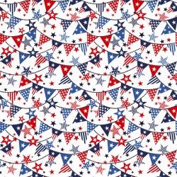 Truckin' in the USA Banner White