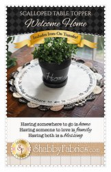 Scalloped Table Topper Welcome Home