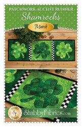 Patchwork Accent Shamrocks
