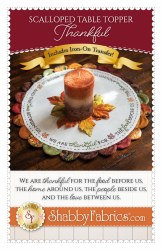 Scalloped Table Topper Thankful