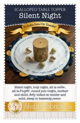 Scalloped Table Topper Silent Night