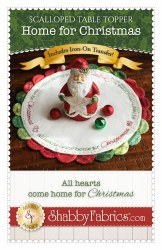 Scalloped Table Topper Christmas