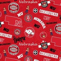 Husker Icon Print Red