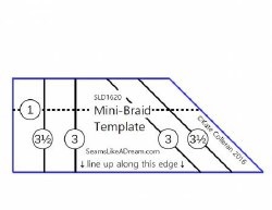 Mini Braid Template Ruler