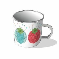 Stitch Enamel Mug