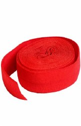Fold-Over Elastic 3/4 Inch Red
