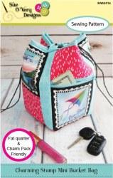 Charming Stamp Mini Bucket Bag