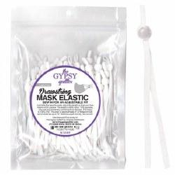 Drawstring Mask Elastic White