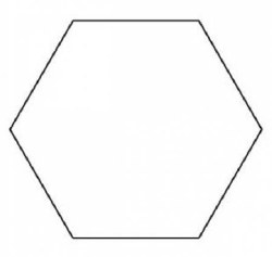 "Hexagon Template 1 1/2"""