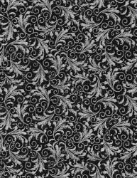 Filagree Black Silver Metallic