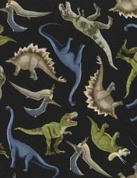 Dino Blue GreenBlack Dinosaurs