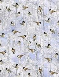 Winter Woodland Chickadees