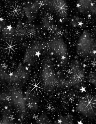 Silent Night Stars Black