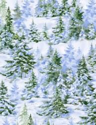 Winter Woodland Pine Trees