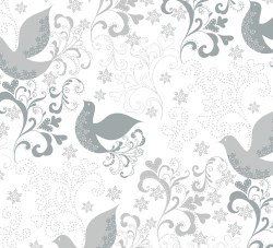 Holiday Village Birds Silver