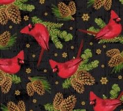 Comfort and Joy Cardinals Blac