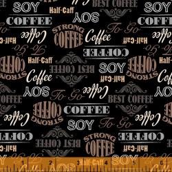 Coffee Shop Words Black