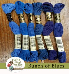 Bunch of Blues Floss Pack