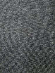 Wool Grey Black Herringbone