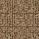 "Wool 9"" x 28"" Buttermilk Basin Tan Red Plaid"
