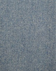 """Wool 18"""" x 28"""" Aqua/CreamHerringbone"""