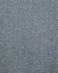 Wool Aqua/Crm Herringbone