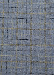 "Wool 9"" x 28"" Lt Blue Windowpane"