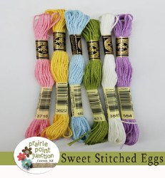 Wool Sweet Stitched Eggs Floss