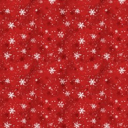 Winter Forest Snowflake Red