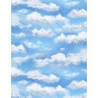Autumn Grove Clouds Dk Blue