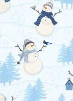 Welcome Winter Lg Snowmen Wht
