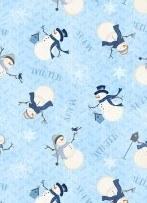 Welcome Winter Md Snowmen Blue