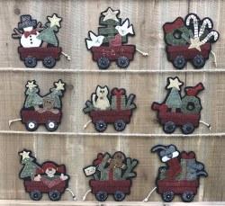 Christmas Wagons Ornaments